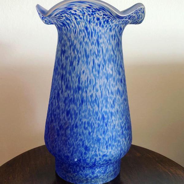 Antigo vaso art deco patê de verre