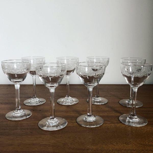 Antigos cálices cristal francês saint louis