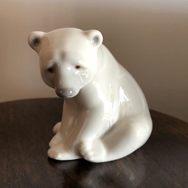 Bloco escultórico urso porcelana lladró