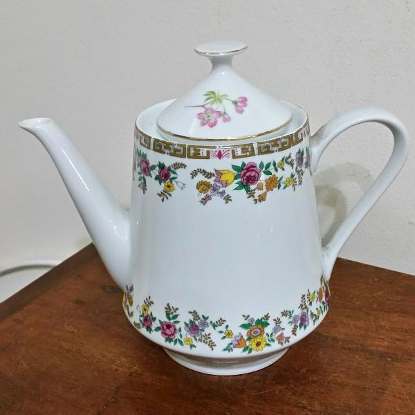 Bule de chá porcelana real