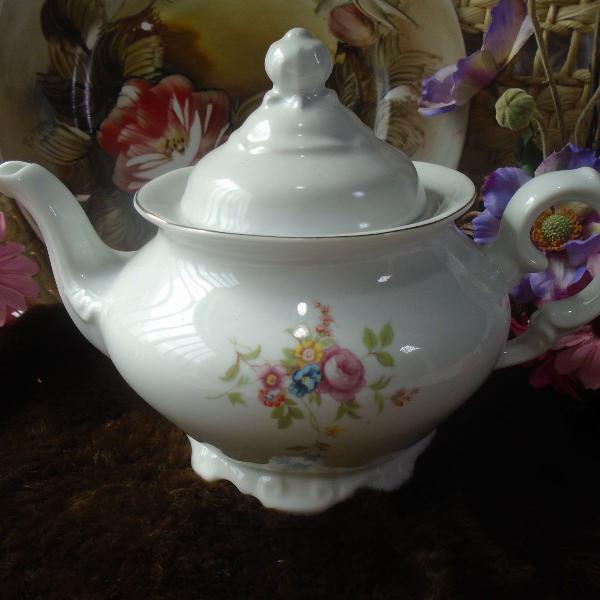 Bule para chá porcelana schimidt