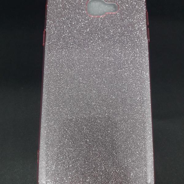 Capinha de silicone super glitter j7 prime