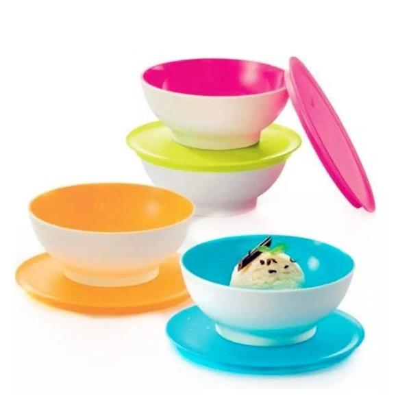 Conjunto 4 mini tigelinhas allegra tupperware 265ml