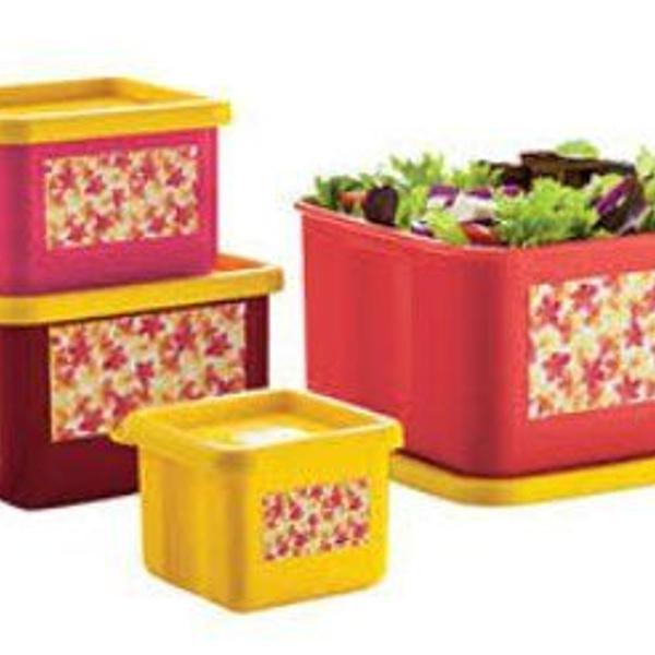 Conjunto 4 potes coleção jasmim innovaware
