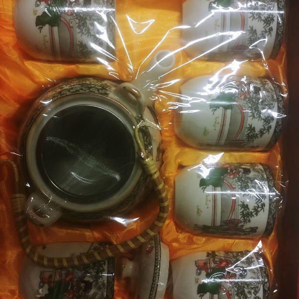 Conjunto de cha em porcelana direto da china