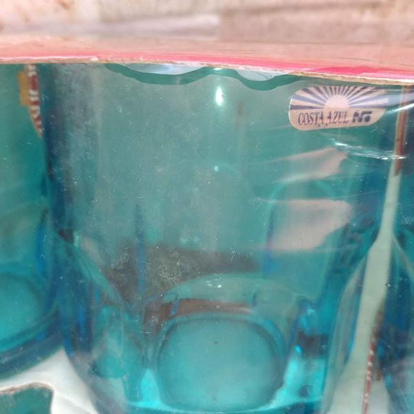 conjunto de copos costa azul -antigos- nadir figueiredo