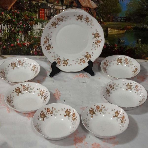 Conjunto para sobremesa porcelana royal albert