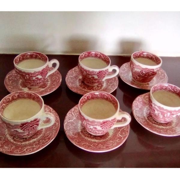 Conjunto xícaras chá / café porcelana inglesa autêntica