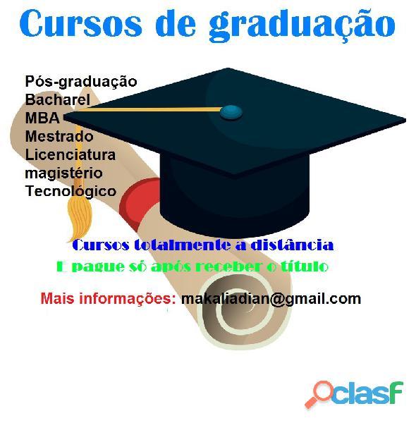 Diplomas de graduação ead sem pagar adiantado