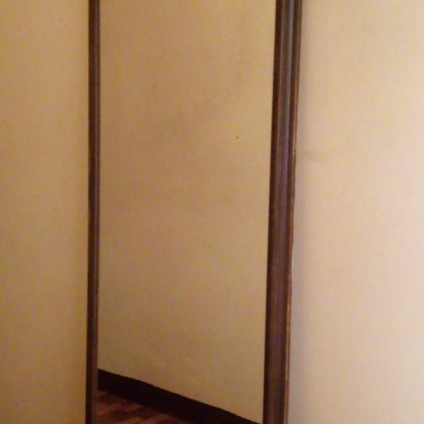 Espelho antigo moldura de madeira