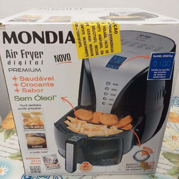 Fritadeira elétrica air fryer digital premium mondial
