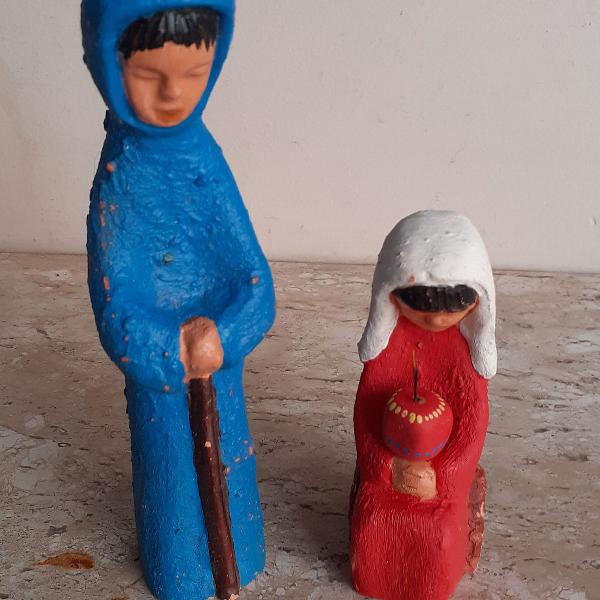 José e maria em cerâmica