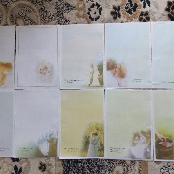 Lote de 29 papéis de carta década de 90