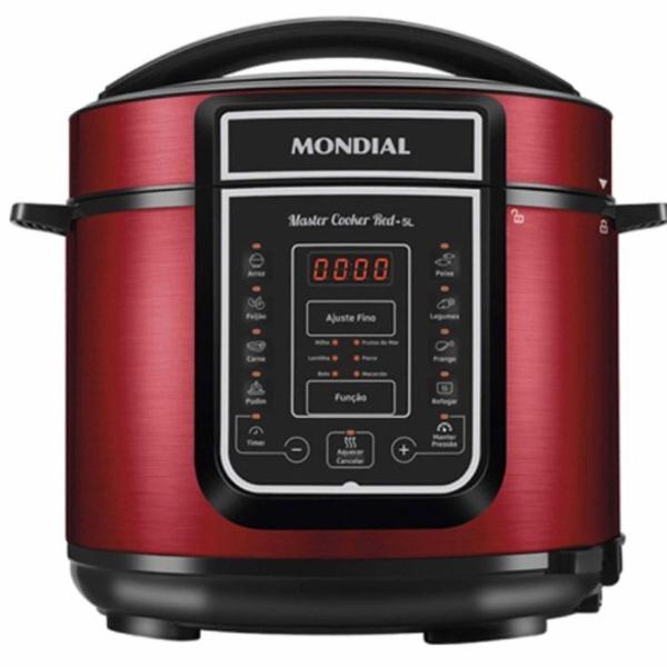 Panela de pressão elétrica digital master cooker red 5l