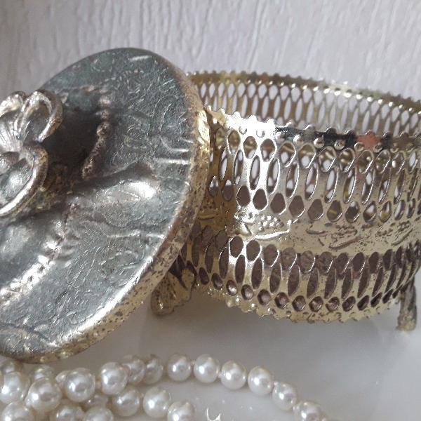Porta joia dourado antigo