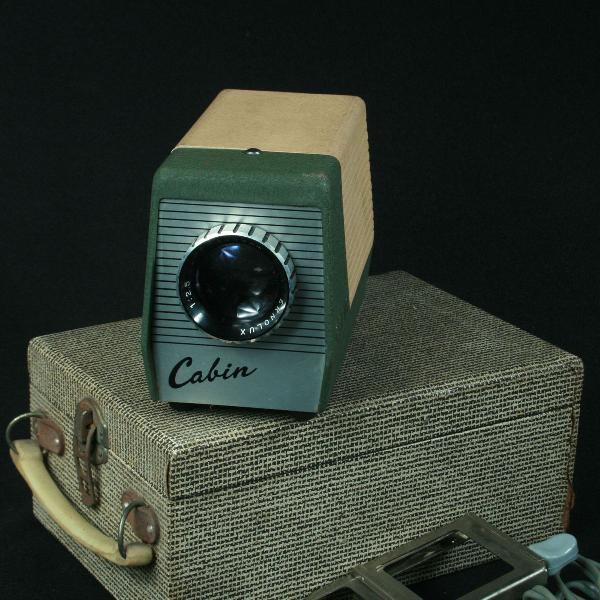 Projetor de slides portátil da marca cabin da década de