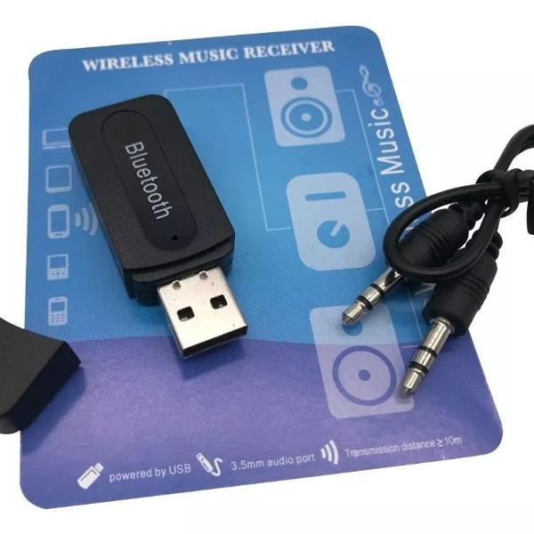 Receptor áudio bluetooth sem fio p/carros som música aux