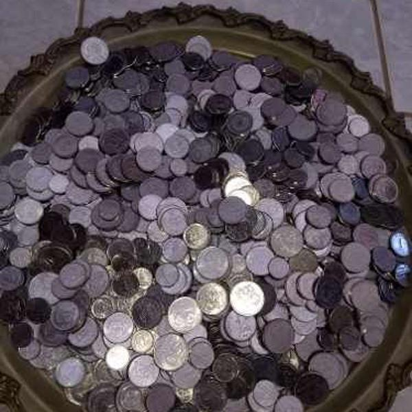Vendo seis quilos de moedas nacionais de açocruzeiros
