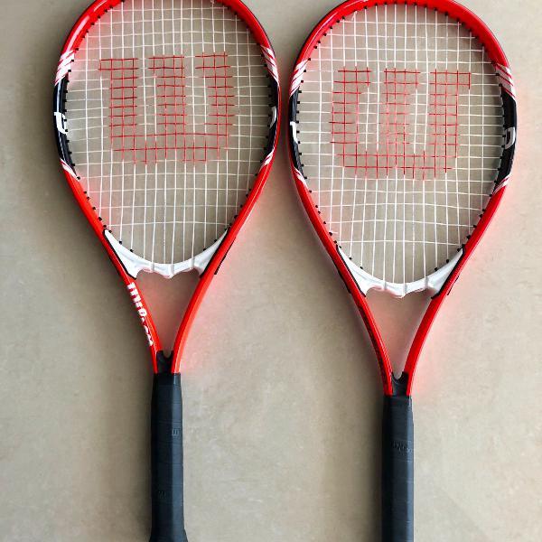 2 raquetes de tênis wilson federer adulto