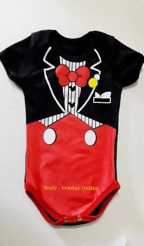 Body mickey super man menino bebê criança divertidos