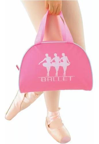 Bolsa para ballet rosa meia lua