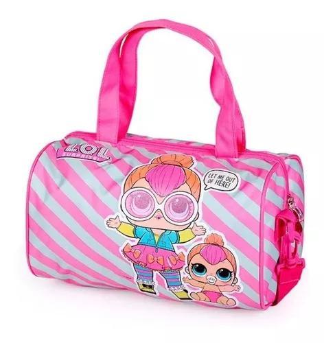 Bolsa porta boneca lol surprise original luxcel rosa