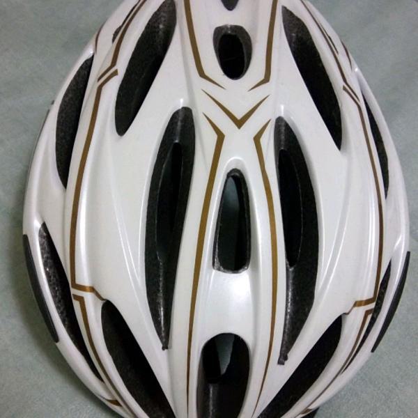 Capacete para bicicleta branco
