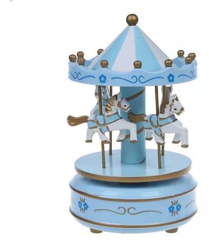 Carrossel musical caixa de música cavalinhos bebê quarto