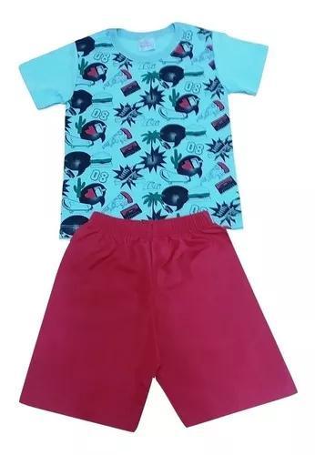 Kit 03 conjuntos infantil menino verão roupa criança