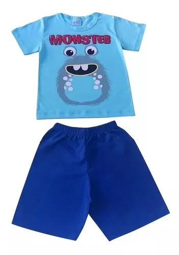 Kit 5 conjuntos infantil menino verão roupa criança