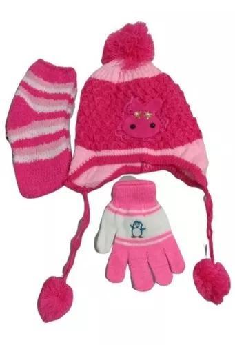 Kit inverno para criança touca gorro + meia para inverno