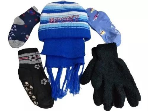 Kit inverno para crianças touca gorro + cachecol + meia