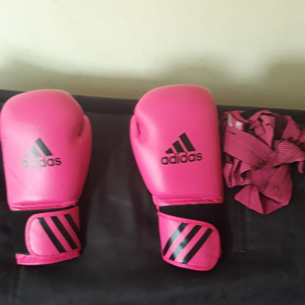 Luva adidas rosa