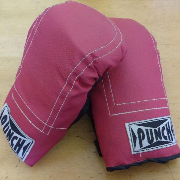 Luva rosa bate saco punch