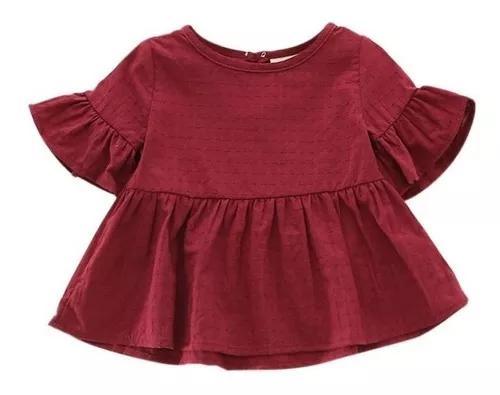 Roupa bebê menina blusinha criança manga larga fashion