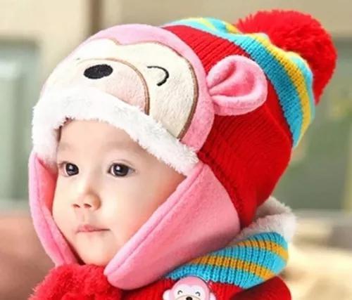 Touca gorro infantil gorro infantil para criança inverno