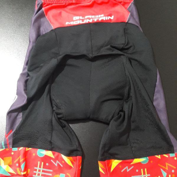 Bermuda para ciclismo feminina black mountain g