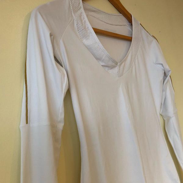 Camiseta manga comprida branca track & field