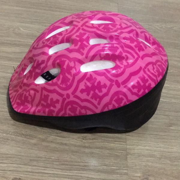 Capacete ciclismo rosa