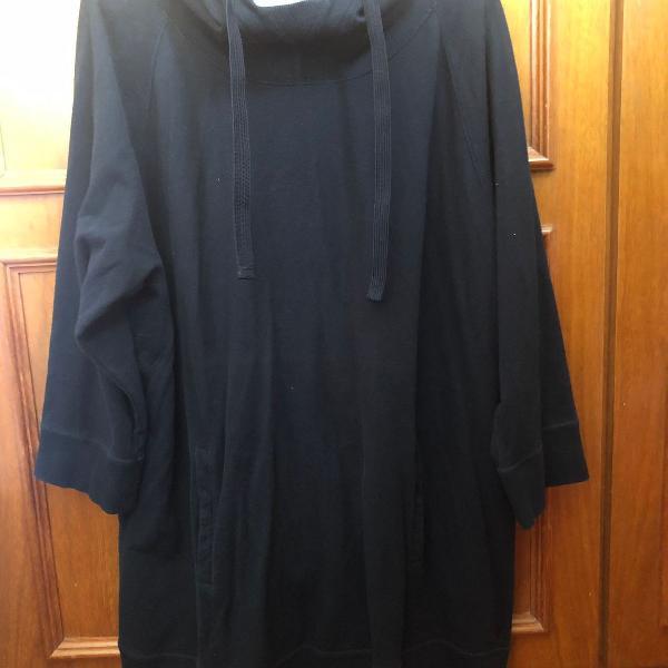 Casaco moleton gap preto tamanho xl