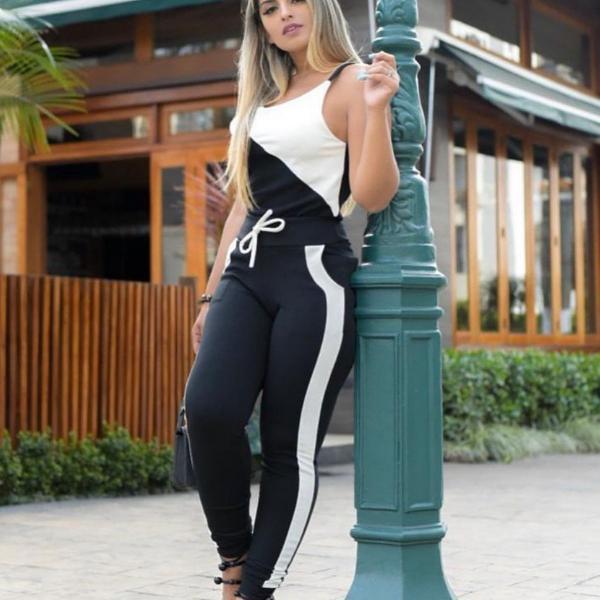 Cj alça preto/branco