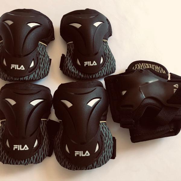 Kit de proteção fila fitness. tamanho m