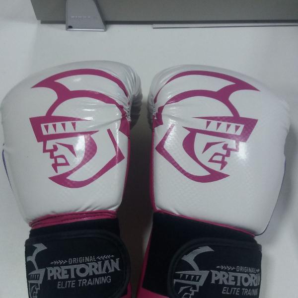 Luva pretorian boxe/muay thai elite training bca x roxa 12oz