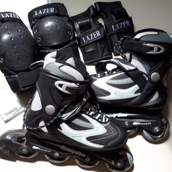 Patins traxart rolling star + acessorios lazer