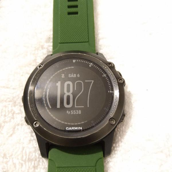 Relógio garmin fênix hr3 safira 51mm