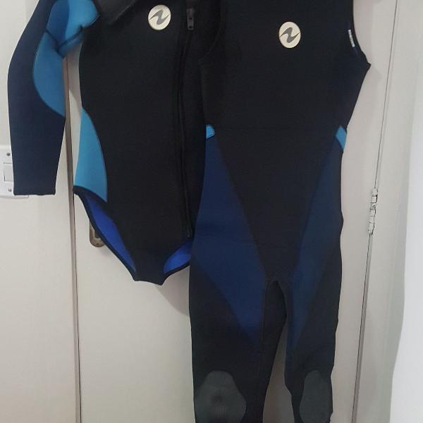 Roupa de mergulho neoprene feminina