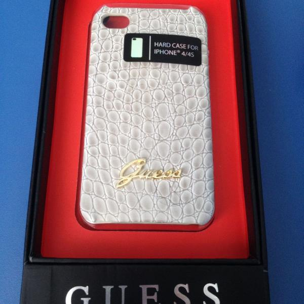 Case guess couro para iphone 4/4s