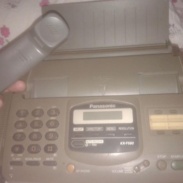 Fax panasonic kx- f580 - corta papel automático!