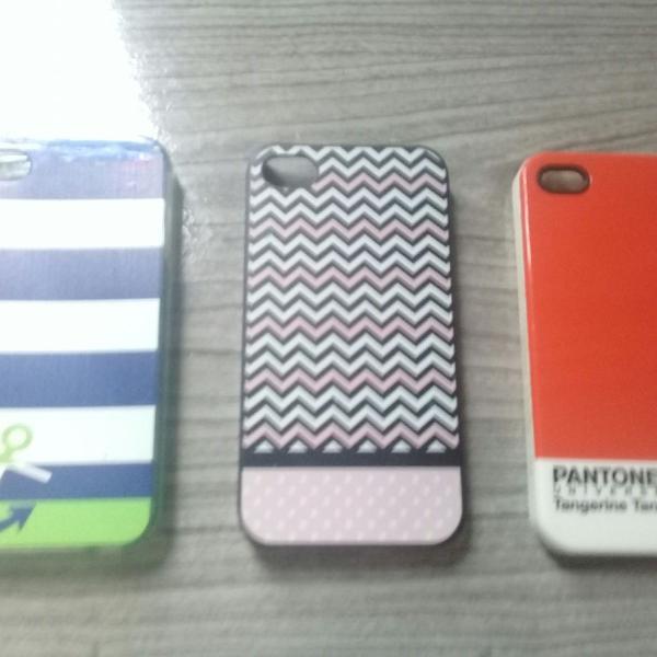 Kit capinhas fofas iphone 4/4s