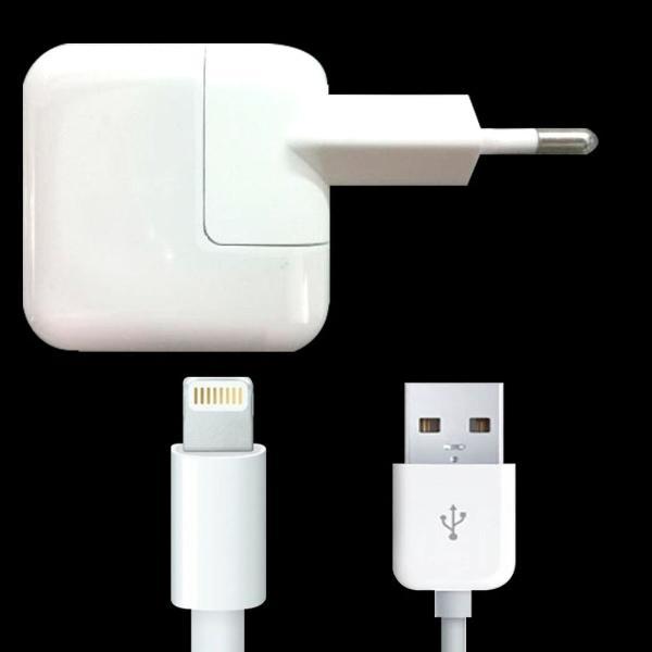 Kit carregador usb de 10w + cabo apple para iphone, ipad